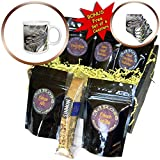 3dRose Susans Zoo Crew Animal - Rhinocerous iguana lizard animal head - Coffee Gift Baskets - Coffee Gift Basket (cgb_294878_1)