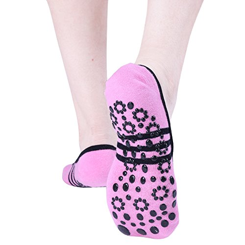 1 Sports Sole Ballet Non Socks Dance Grip Women Silicone Pilates Pair GYM Pink slip TiaoBug Socks Yoga 6fxFwAqw