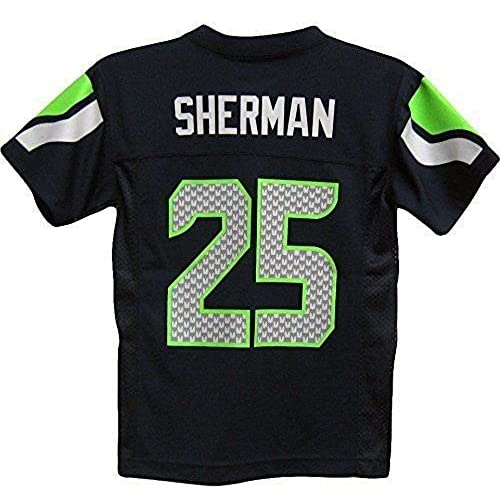 7a8e9ad3b0fd8 Richard Sherman Seattle Seahawks #25 NFL Youth Mid-Tier Team Color ...