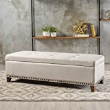 Christopher Knight Home 300794 Living Gisele Tufted Cover Beige Fabric Storage Ottoman Review