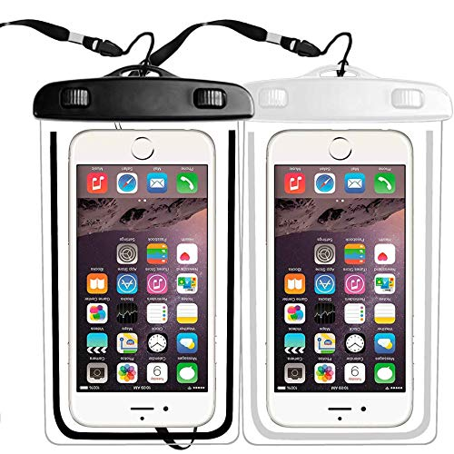 2 Pack Waterproof Phone Pouch, IPX8 Cellphone Dry Case Bag Compatible with iPhone Xs,XR,XS MAX,X 8,7,6s Plus,SE,Galaxy S9,S8+,s7 Edge LG,Diagonal to 6