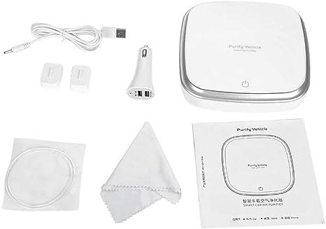 Heaviesk Purificador de Aire del Coche Smart Touch Ionizer Anion Purificador de Aire del Coche Removedor de Polvo de Humo USB portátil Limpiador de Aire: Amazon.es: Deportes y aire libre