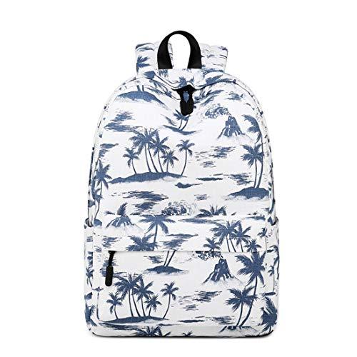 color Scuola Per Studente Materna Palm Olprkgdg Pendolari Di Blue Blue Grande Portafogli Zaino Leggera Capacità Island aIwqSUO
