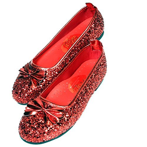 Wizard of Oz Child's Deluxe Dorothy Ruby Red Slippers, Large by Rubie's (Child Deluxe Dorothy Ruby Slippers)