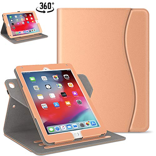 Retear Case for 2019 iPad Mini 5/4,Soft Leather 360 Degree Rotating Stand Smart Cover with Wake/Sleep