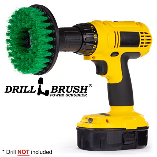 Kitchen Accessories - Cleaning Supplies - Drill Brush - Mold Remover - Grout Cleaner - Cast Iron Skillet - Spin Brush - for Tile, Counter-Tops, Stove, Oven, Sink, Trash Can, Floors - Calcium - Rust