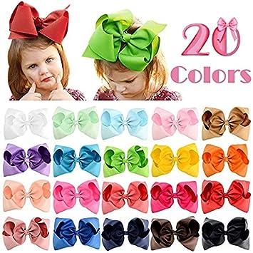 Baby Girl Headbands Grosgrain Ribbon Boutique 4in Hair Bows 20Pcs