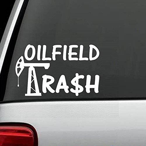 D1083 Oilfield Trash Decal Sticker for Car Truck SUV Van Hard Hat Laptop SUV Boat Trailer Wall Surface Art