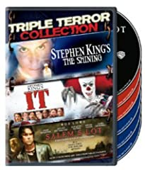"""Triple Terror Collection (DVD)IT: Based on the King Of Horror's 1986 Best Seller, """"It"""" is a jittery, jolting excursion into personal fear. """"It"""" raises goose-bumps and brings out the stars. Harry Anderson, Dennis Christopher, Annette O'Toole, ..."""