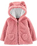 Carter's Zip-Up Sherpa Cardigan Jacket, Pink Sherpa, 24 Months