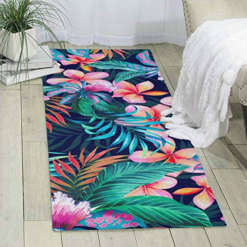 (Bghnifs Tropical Flowers Print Area Rug Runner Rug Living Room Carpet Hallway Carpet Entry Rugs Room Bedroom Rugs, 70'' X 24'' )