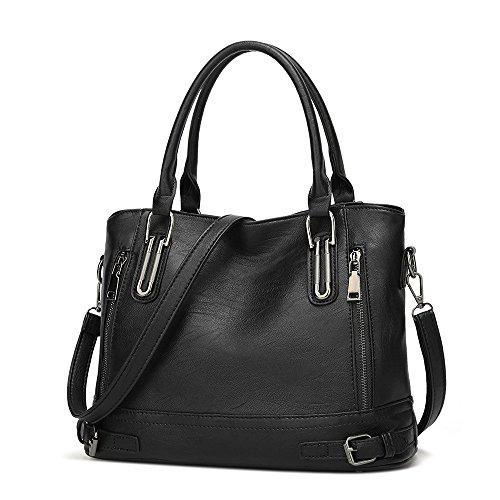 Handbag Package Ms Red Handbag Amyannie Diagonal Wash capacity Large Pu Black Color Shoulder xAqRIU6
