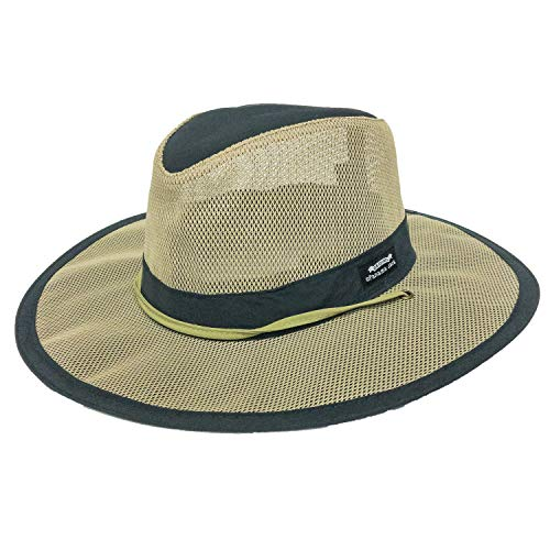 Panama Jack Hat - Mesh Safari Hat, Big Brimmed, Supplex, Sun Hat (Large, Navy)