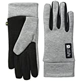 Womens Touch N Go Liner Glove, Heathered Grey, Small