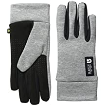 Womens Touch N Go Liner Glove, Heathered Grey, Large