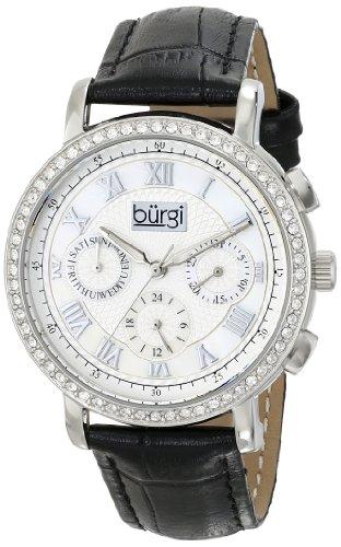 Burgi Women's BUR087BK Analog Display Swiss Quartz Black Watch
