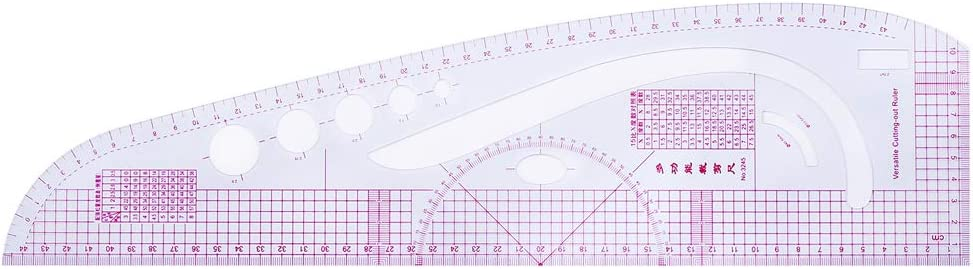 Sewing Rulers Set,VIccoo 6Pieces Sewing French Curve Ruler Measure Dressmaking Tailor Drawing Template Craft Tool Set