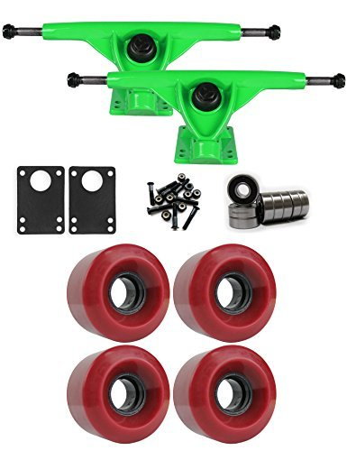RKPグリーンLongboard Trucksホイールパッケージ60 mm x 41 mm 83 a 220 Cレッド [並行輸入品]   B078WV5MPM
