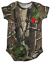 Louisville Cardinals NCAA College Newborn Infant Baby RealTree Camo Camouflage Creeper (12 Months )