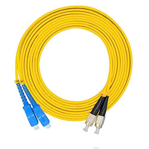 Fiber Fc Sc Singlemode Duplex - Jeirdus 30Meters 100ft SC to FC Duplex 9/125 Single-Mode Fiber Optic Cable Jumper Optical Patch Cord SC-FC