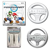 Wii Mario Kart with Extra Steering Wheel & Dual Charge Station