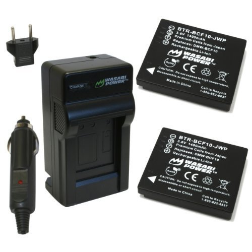 Wasabi Power Battery and Charger Kit for Panasonic Lumix DMW-BCF10, DMW-BCF10E, DMW-BCF10PP, CGA-S/106B, DMC-F2, DMC-F3, DMC-FH1, DMC-FH20, DMC-FH22, DMC-FH3, DMC-FT3, DMC-FT4, DMC-FX68, DMC-FX700, DMC-FX75, DMC-TS2, DMC-TS3, DMC-TS4