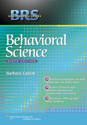 BRS Board Review Series Behavioral Science (6th 2013) [Fadem]