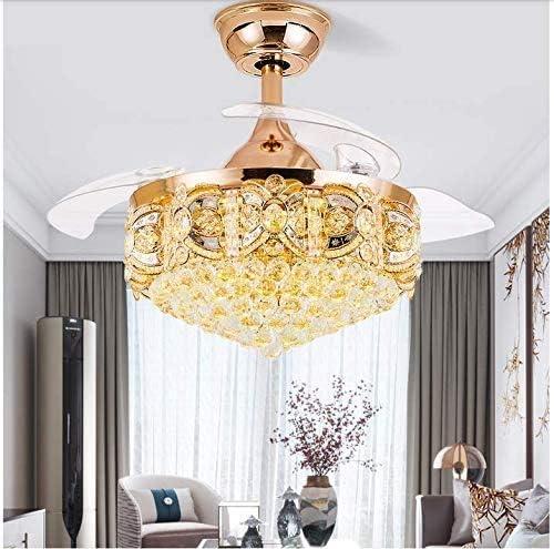 Sweety House 42″Crystal Ceiling Fan Light