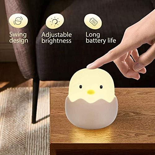 Silikon Pinguin LED Nachtlicht Nachtlampe USB Fütterung Lampe Touch Babyzimmer