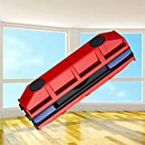 Magnetic Window Cleaner, Glass Cleaning Glider Powerful Magnetic Outer Window Cleaning Tool with 2 Extra Cleaning Cloth Rags For Home Office Windows(double layer)