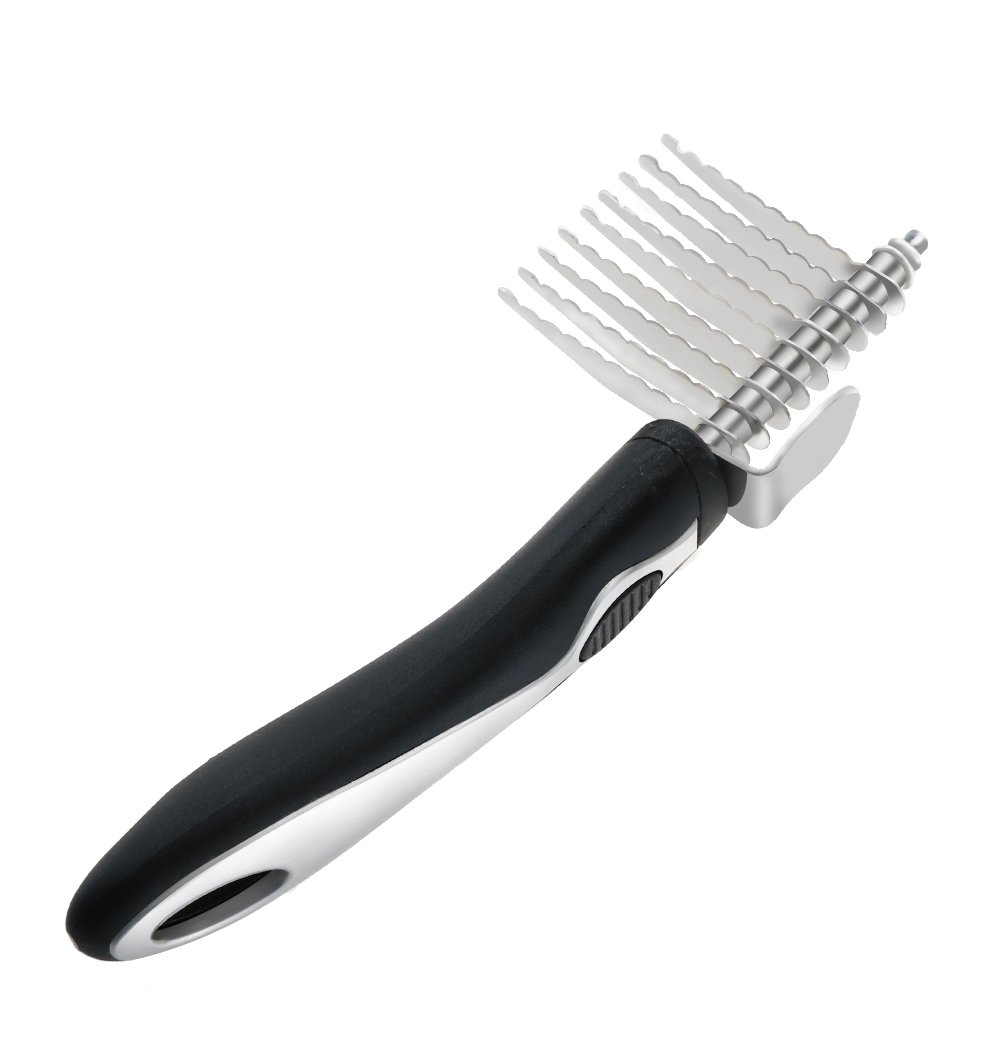 CEESC Pet Grooming Rake Comb Tool Instantly Knot Out Tangles Mats and Undercoat Fur for Dogs Cats, Large and Medium Animals