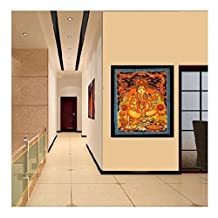 Denika Handicrafts Lord Ganesha Tapestry Bohemian Wall Hanging, Psychedelic Wall Art, Dorm Décor Throw, Indian Wall Tapestries Art