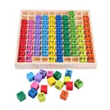 Huhushop Mathematics Educational Wooden Toys 10 * 10 Multiplication Table Math Toy Arithmetic Kids Baby Blocks Puzzle Children Baby Montessori Teaching Aids