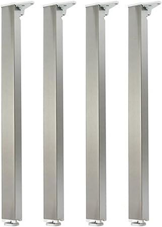 Juego de 4 patas para mesa rectangular 50 x 50 mm, altura 710 mm aluminio lacado. RAL 9006.: Amazon.es: Bricolaje y herramientas