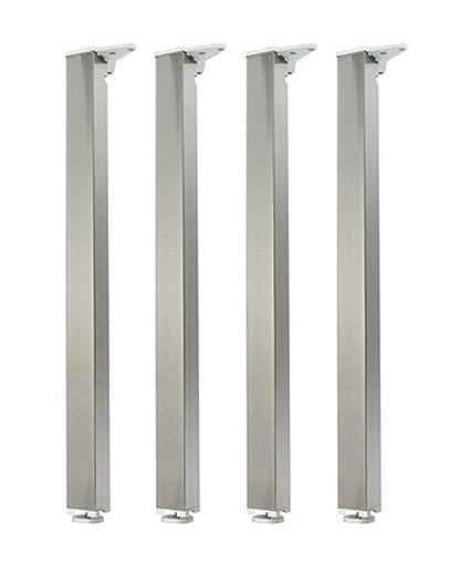 Gambe Alluminio Per Tavoli.Gambe Per Tavolo Set Di 4 Pz Rettangolari 50 X 50 Mm Altezza 710 Mm In Alluminio