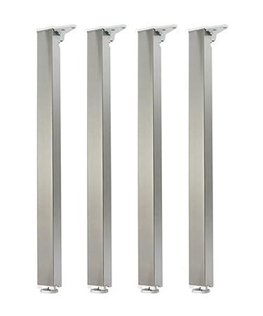 Gambe In Alluminio Per Tavoli.Gambe Per Tavolo Set Di 4 Pz Rettangolari 50 X 50 Mm Altezza