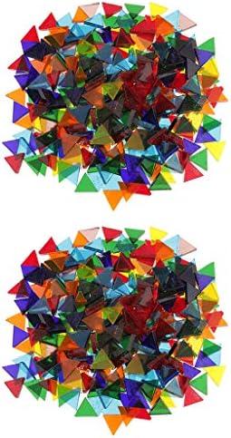 sharprepublic モザイクタイル モザイクタイルシール キッチン ガラスタイル シート 三角形 耐久性 丈夫 約320G