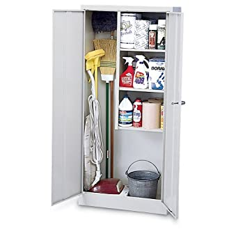 Amazon Com Janitorial Supplies Cabinet 30x15x66 Putty