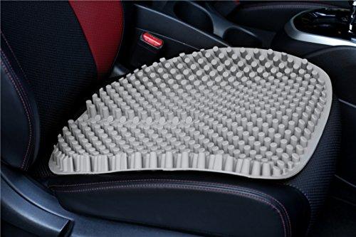 Hylaea Non Slip Gel Auto Seat Cushion Pad for Car Office Chair Grey