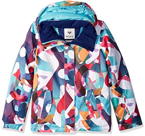 Roxy Big Girls' Jetty Snow Jacket, Milo Typo, 16/XXL