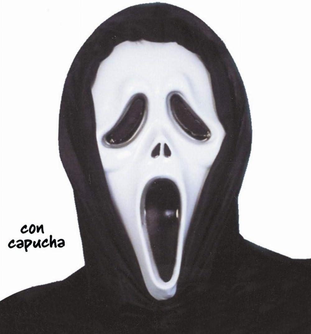Inconnu Masque Noir et Blanc en Plastique Tueur psycopathe Adulte