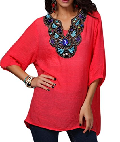 womens-embroidered-bohemian-loose-tunic-shirts-vintage-blouse-tops-watermelon2-2xl