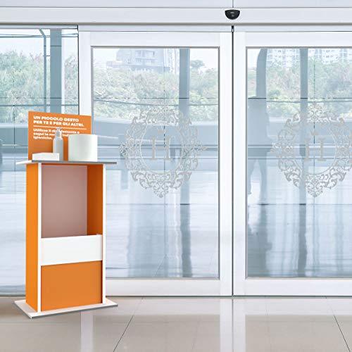 Columna porta dispensador, gel higienizante, porta guantes con ...