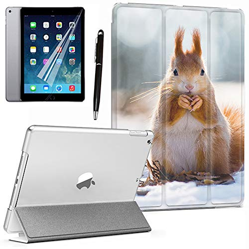 GSPSTORE iPad Mini/Mini 2/Mini 3 Case Animal Lightweight PU Leather Smart Auto Sleep/Wake case Also Fit iPad Mini 1/Mini 2/Mini 3(Squirrel) (Difference Between Ipad Mini 1 And 2)