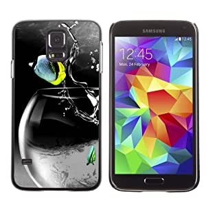Designer Depo Hard Protection Case for Samsung Galaxy S5 / Cool Rocket Fish