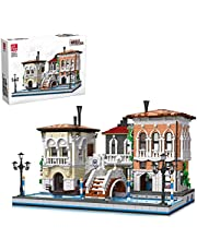 YaYashow Venetië Bouwpakket voor bouwstenen, modulaire gebouwen, constructiespeelgoed, compatibel met Lego Home (3050 stuks)