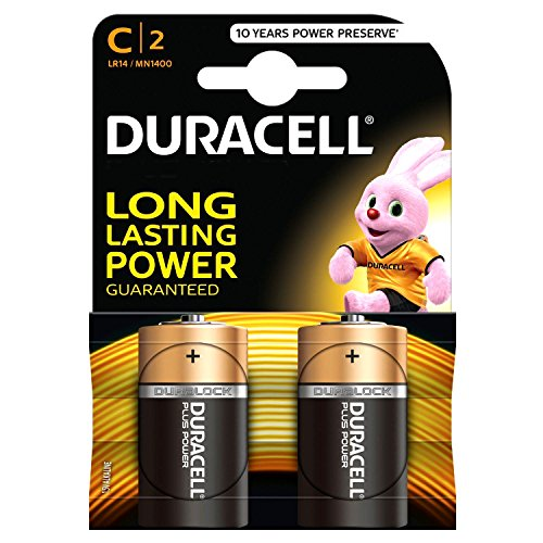 Duracell MN1400 Plus Power C Size Batteries - Pack of 10 by Duracell