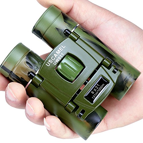 USCAMEL Binoculars Compact, 8x21 Folding Pocket Size, Travel
