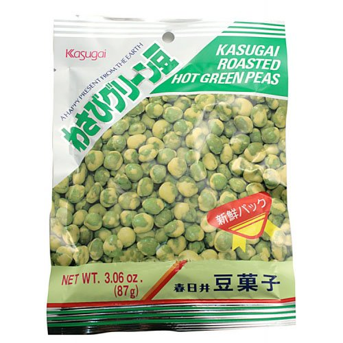Kasugai Roasted Hot Green Wasabi Peas 3.6 Oz by Kasugai (Image #1)