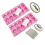 Carlie 2Pcs/Pack 12-Capacity Silicone Lollypop Mold With 100Pcs/Pack Sucker Sticks